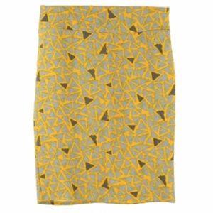 LuLaRoe Skirts - 🔴LAST CALL🔴 LuLaRoe Yellow Triangle Cassie Skirt